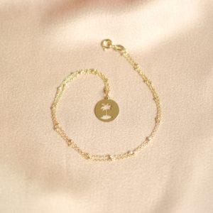 collar de moda palmera -bling bling